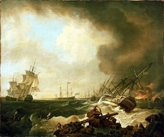 The Battle of Quiberon Bay in November 1759 destroyed French hopes of invading Britain