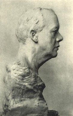 Bust of Chamberlain (c. 1914), from an unfinished clay model for a bust by Joseph Hinterbeher