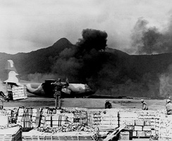 C-130 Hercules taking off from Khe Sanh