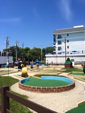 A miniature golf course in Cape May, New Jersey