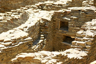 Chaco Kiva Detail, Chaco Culture National Historic Park, NM
