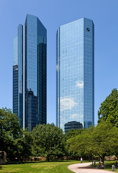 Wallanlagen with Deutsche Bank Twin Towers