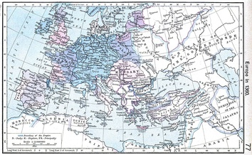 Map of Europe in 1360