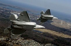 94th Fighter Squadron F-22As approaching Langley Air Force Base