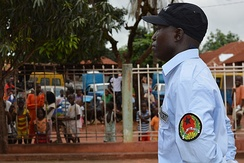 Public Order Police officer during a parade in Guinea-Bissau