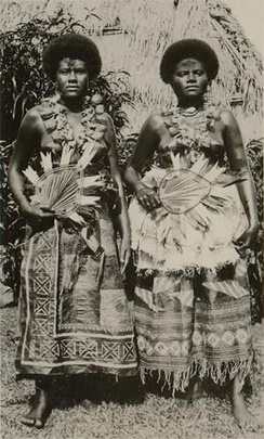 Native Fijian women, 1935