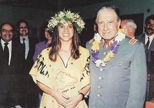 General Pinochet posing with a native Rapa Nui woman