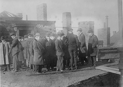 A grand jury investigating the fire that destroyed the Arcadia Hotel in Boston, Massachusetts in 1913