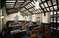 Part of the interior of the Eric V. Hauser Memorial Library