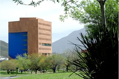 Ricardo Legorreta designed the EGAP CEMEX building, which houses the Graduate School of Public Administration and Public Policy, at San Pedro Garza García, a suburb of Monterrey[63]