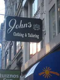 Clothier and tailor in the Financial District of Boston, Massachusetts