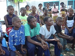 Kongo youth and adults in Kinshasa, Democratic Republic of Congo