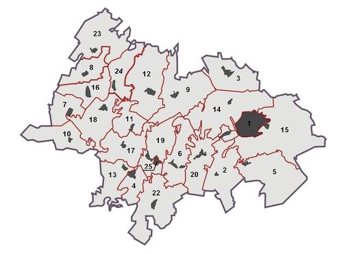 Карта-схема Лениногорского муниципального района