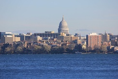 Skyline of Madison, as seen from Picnic Point