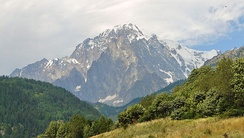Mont Blanc seen from Aosta Valley.