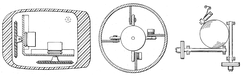 Early mouse patents. From left to right: Opposing track wheels by Engelbart, November 1970, U.S. Patent 3,541,541 . Ball and wheel by Rider, September 1974, U.S. Patent 3,835,464 . Ball and two rollers with spring by Opocensky, October 1976, U.S. Patent 3,987,685