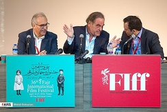 Oliver Stone in Tehran. 2018 Fajr International Film Festival