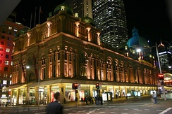 Queen Victoria Building, a late 19th century shopping centre in the CBD, was designed in Romanesque Revival fashion.