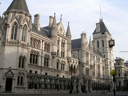 Royal Courts of Justice on the Strand in the City of Westminster