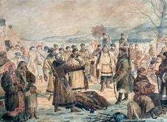 Cossacks collecting yasak in Siberia
