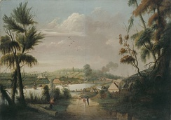 Convict artist Thomas Watling's A Northward View of Sydney Cove, 1794