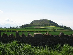 Traprain Law in East Lothian, said to have been the site of King Lot's capital