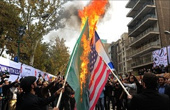 A protest in Tehran on November 4, 2015, against the United States, Israel, and Saudi Arabia.