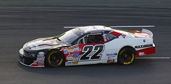 Scott Steckly won the Canadian Tire Series championship and is here seen driving at the Budweiser 300.
