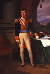 Oil painting of Agustín de Iturbide, leader of independence who was declared Emperor Augustín I, in 1822 following independence