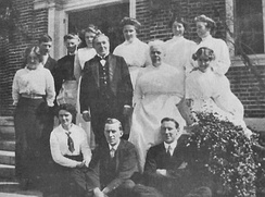 The servants at Stonehouse Hill, the estate of F. Lothrop Ames, Massachusetts, 1914