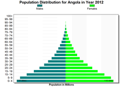 Population Pyramid of Angola.