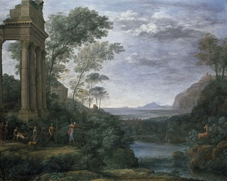 Claude Lorrain, Ascanius Shooting the Stag of Sylvia, 1682. The landscape as history painting.