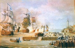 Battle of Cartagena de Indias March–May 1741, during this battle the Spanish Empire defeated a British fleet of over 30,000 professional soldiers, 51 warships and 135 transport ships counting the Spanish army only less than 2400 professional soldiers, 600 natives and 6 ships.