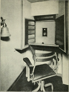 Video telephone booth, 1930