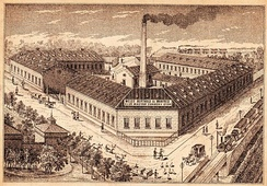 The Berthold-Weiss Factory, one of the first large canned food factories in Csepel, Budapest (1885)