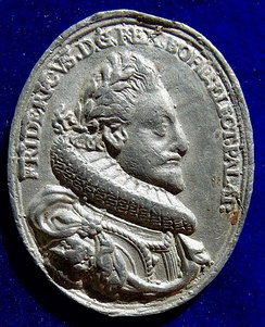 Bohemia 1620, retrospective coronation medal of King Frederic Elector Palatine of the Rhine. Obverse