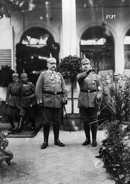 Hindenburg and Ludendorff (pointing), 1917