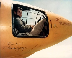 Yeager in the Bell X-1 cockpit