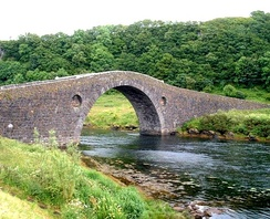"Telford's Clachan Bridge between the mainland and Seil, also known as the ""Bridge across the Atlantic"", was built in 1792.[72]"