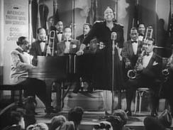 Basie and band, with vocalist Ethel Waters, from the film Stage Door Canteen (1943)