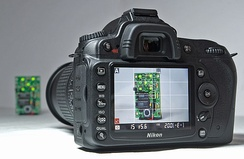 Nikon D90 in Liveview mode also usable for 720p HD video