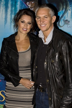 Lineker with his ex-wife Danielle in 2010
