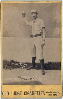 Doc Bushong baseball card from 1888 Old Judge Cigarettes.jpg