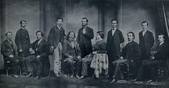 Editorial staff of The Courier-Journal, 1868.