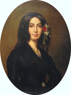 "George Sand, who called Les Huguenots ""an evangel of love"""