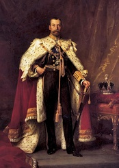 George V, the last King to be styled as King of the United Kingdom of Great Britain and Ireland