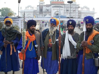 A group of Nihang Singhs