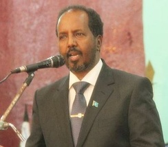 Former President Hassan Sheikh Mohamud, founder and Chairman of the Peace and Development Party