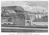 Thames Embankment under construction in 1865