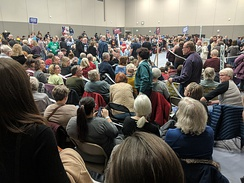 Iowa Caucus Precinct 15 in Ames (2020) During First Alignment